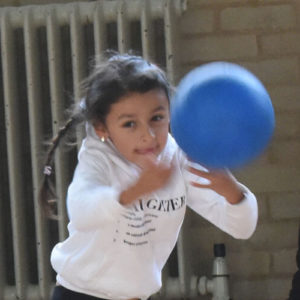 children girl boy dodgeball