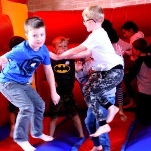 children on bouncy castle
