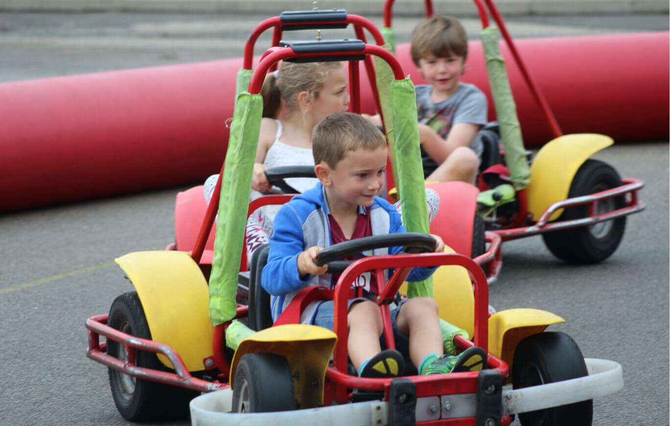 Children in Go Karts